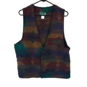 Vintage 90s Hombre Mode Tribal Print Vest